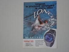 advertising Pubblicità 1972 OROLOGIO LONGINES ULTRONIC