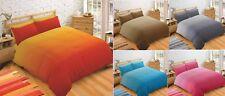 Super Soft Modern Plain Two Tone Duvet Quilt Cover Bedding Set Cotton Rich