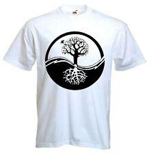 YIN & YANG TREE OF LIFE T-Shirt-Wicca Pagan DRUIDO taoismo Zen meditazione yoga