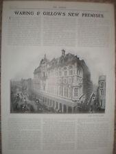 Waring & Gillow new Oxford Street Shop 1905 advert