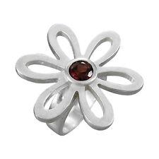 Schmuck-Michel Ring Blume Silber 925 Granat 1 ct - Gr. 50-65 lieferbar (1460)