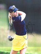 """MORGAN PRESSEL signed auto LPGA 11X14 photo w/ COA """"WOW"""""""