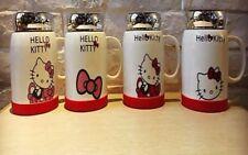 Hello Kitty cartoon 4 color bone ceramic 500ML coffee milk tea mug cup with lid