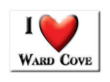 SOUVENIR USA - ALASKA MAGNET I LOVE WARD COVE (KETCHIKAN GATEWAY COUNTY)