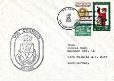 1980 USS Cushing DD 985 Cacciatorpediniere Marina Militare nella cache COVER