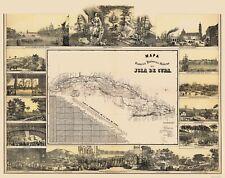 Old Caribbean Map - Cuba - May 1853 - 23 x 29.10