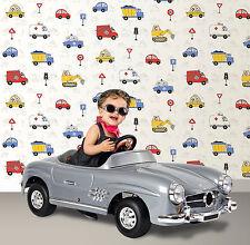 Debona Cars Fire Engine Trucks Road Traffic Boys Bedroom Wallpaper 10m 20007