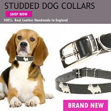 Dog Metal Con Broches Pequeño Gato Cachorro 100% Piel Auténtica Collar Handmade