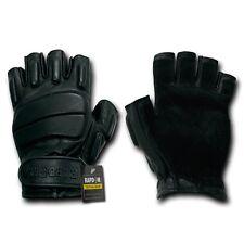 Rapid Dom Half Finger Riot Gloves Glove Tactical Patrol Army Military Black