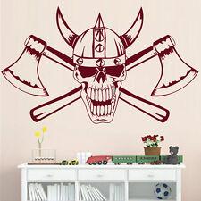 Stickers Tête de Mort Casque Viking, XXL, Géant 35x38 cm à 60x66 cm (VIK003)