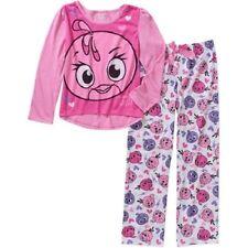 Angry Birds  Girls 2 Piece Pajama Set Long Sleeve  Size 4-5 ,6-6X NWT