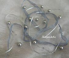 Perlenband 130cm Perlen Girlande Kette Satin Hochzeit Tischdeko Bubble Garland