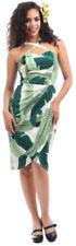 Collectif MAHINA Vintage BANANA LEAF Tropical SARONG Dress KLEID Rockabilly