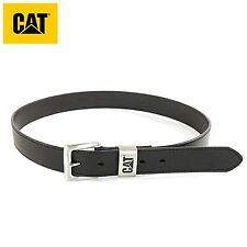CAT Caterpillar Calderwood Black Brown Leather Belt Casual Mens Belt [ALL SIZES]
