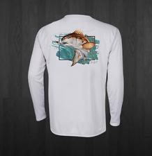 Men's White Performance Redfish Fishing Shirts