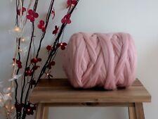 Light Pink* 100% Merino Wool Rowing Jumbo Giant Yarn Big Arm Knitting 100g - 1kg