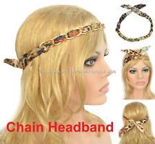 Wire Metal Metallic Chain Wrap Hair Head Band Headband Bow Scrunchie Scrunchy