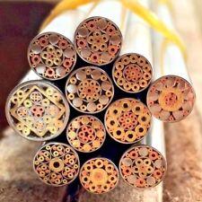 Brass Mosaic Pin Rivets 40mm Steel Tube 6mm Diameter Custom Knife Handle Pin 1pc