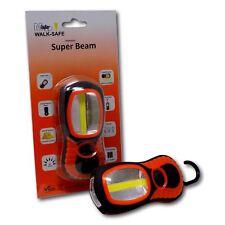 Minder Walk-Safe Super Beam 200 Lumen LED Torch Flashlight Lamp w/ Magnet & Hook
