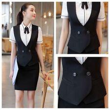 Lady Waistcoat+Skirt Suits Sets OL Slim Formal Business Office Work Wear Elegant