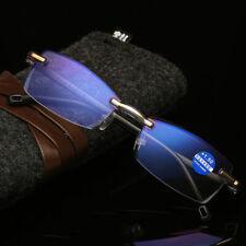Anti Blue Light Reading Glasses Unisex Diamond Cutting Rimless Glasses 1.0-4.0