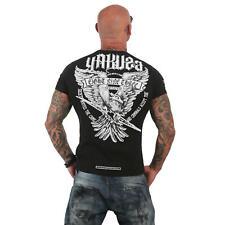Yakuza T-Shirt Herren Eagle Logo & Motiv Brust- Rücken-Print TSB 12020 schwarz