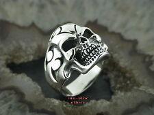 Silberring Gothic TOTENKOPFRING Tribal Totenkopf Tattoostyle  Skull Ring 925