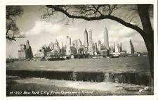 MANHATTAN SKYLINE VINTAGE REAL PHOTO POSTCARD BY SOWYER'S STUDIO, NEW YORK