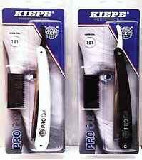 KIEPE PROFESSIONAL RAZOR - Cutthroat Razor and Hair Thinning Comb - FREE Blades