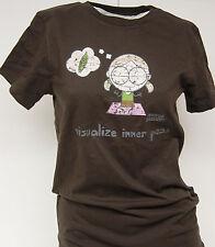 NEW Girls Juniors DAVID & GOLIATH Visualize Inner Peas Brown T-Shirt