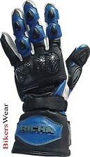 Richa Spur Summer Black / Blue Motorcycle Gloves RRP £39.99