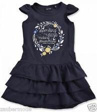 BLUE SEVEN Mädchen Jersey-Kleid mit Rüschen marine Gr. 92 98 104 110 116 122 .