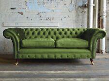 Chestefield Sofa Couch Leder Designer Textil Sitz Polster Garnitur Design 201841