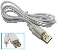 USB-A 5v 1A 1000mA DC Enchufe de carga Cable de alimentación 0.7 0.8 2.35mm/0.75 Lead 1m