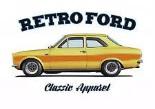 FORD ESCORT RS2000 mk1 t-shirt. RETRO FORD , CLASSIC CAR, ESCORT MARK.