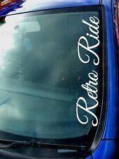 Retro Ride Small - Large Windscreen Car Stickers Decals JDM EURO VW DUB Scene