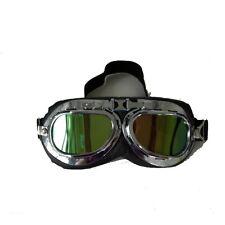 Motorcycle Bike Glasses Scooter Aviator Cruiser Helmet Pilot Goggles Yellow Lens