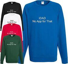 Felpa iDad HO Papà Padre Papà Daddy Festa del Papà Divertente app Net Regalo di Natale