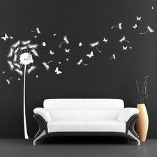 Wandtattoo Pusteblume Löwenzahn Pollen Schmetterlinge 10145 von Wandtattoo Loft®