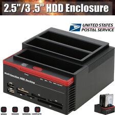 "USB 3.0 External 2.5"" 3.5"" SATA IDE Hard Drive Enclosure HDD Disk Docking HUB"