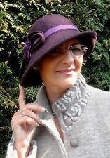 Damenhut  Wollhut Glockenhut im Style der 30ziger Jahre Damenhüte Anlasshüte