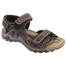IMAC - Sandalias deportivas de piel con 3 correas duras ajustables para hombre/C
