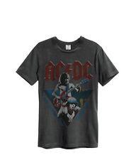 Amplified - AC/DC Herren Europe 84 Tour T-Shirt - Grau (S-XL)