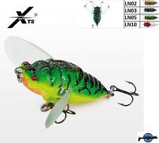 Leurre poisson nageur insecte topwater Cicada Crawler XTS 40mm 5,5gr blackbass