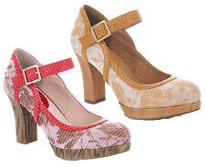 Ruby Shoo Cassandra Mary Jane Platform Shoes UK3-9 EU36-42 Coral Sand