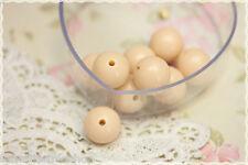 Perle sfuse tonde bigiotteria plastica -50pz- round beads panna 16mm