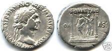 TRAJAN (98-117) CISTOPHORE Rv/ ROMA ET AVG TEMPLE RARE