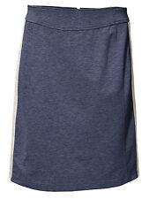 B.C. Jerseyrock Rock Skirt Minirock Mini Glanz-Effekt rauchblau 041720