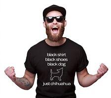 Chihuahua Unisex T-Shirt Black Dog Hundemotiv Chi Chis Langhaar Chiwawa