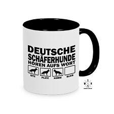 Tasse Kaffeebecher DEUTSCHE SCHÄFERHUNDE HÖREN AUFS WORT Hund Hunde Siviwonder